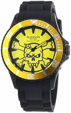 MADISON NEW YORK Unisex-Armbanduhr Candy Time Stay Alive Analog Quarz Silikon U4618A-02 von Madison New York