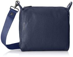 Mandarina Duck Damen Mellow Leather Tracolla Schultertasche, Blau (Dress Blue) 10x24x25.5 cm von Mandarina Duck