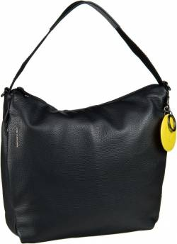Mandarina Duck Handtasche Mellow Leather Medium Hobo FZT95 Nero von Mandarina Duck