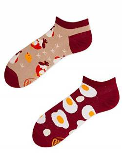 Many Mornings Socken Low unisex Knöchelsocken Egg and Chicken (35-38) von Many Mornings
