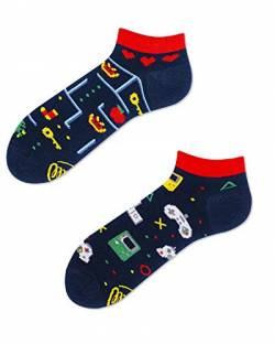 Many Mornings Socken Low unisex Knöchelsocken Game Over (39-42) von Many Mornings