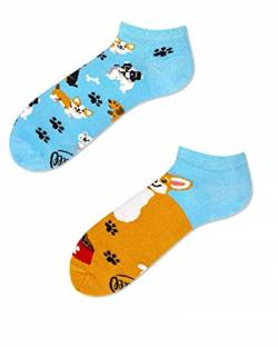 Many Mornings Socken Low unisex Knöchelsocken Playful Dog (39-42 socks_paradise) von Many Mornings