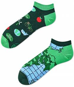 Many Mornings Socken Low unisex Knöchelsocken Save the Planet (39-42) von Many Mornings