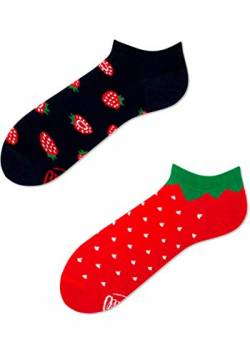 Many Mornings Socken Low unisex Sneakersocken Knöchelsocken Strawberries (43-46) von Many Mornings