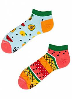 Many Mornings Socken Low unisex Sneakersocken Knöchelsocken Tutti Frutti (39-42 TU) von Many Mornings