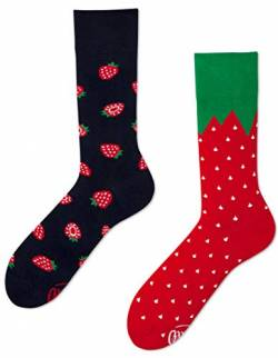 Many Mornings Socken damen und herren crazy socks Fruit Erdbeeren (43/46) von Many Mornings