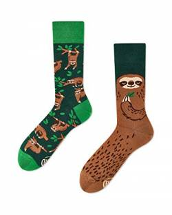 Many Mornings - mismathced Socken - Sloth Life, Faultier (39-42) von Many Mornings