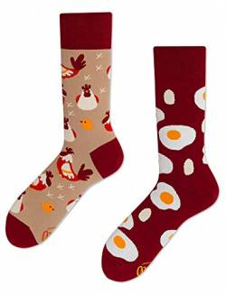 Many Mornings unisex Socken – Egg and Chicken - (43-46) von Many Mornings
