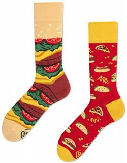 Many Mornings unisex Socken Fast Foot – Burger Pizza (35-38 TU) von Many Mornings