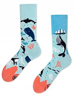 Many Mornings unisex Socken Ocean Life (43-46, Blau) von Many Mornings