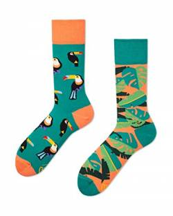 Many Mornings unisex Socken – Tropical Heat - Tukan (43-46) von Many Mornings