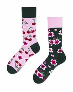 Many Mornings Verrückte Socken - Fun Socks - Cherry Blossom - Kirschblüte (35-38) von Many Mornings