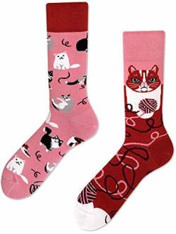 Many Mornings unisex Socken Playful Cat (Print, 39/42) von Many Mornings