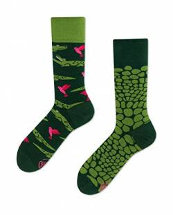 Many Mornings Verrückte Socken damen und herren crazy socks Lustige socken Krokodil Four feeter (43/46) von Many Mornings
