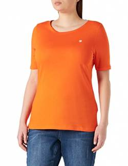 Marc O'Polo Damen 002218351159 T-Shirt, Orange (Fresh Carrot 263), Large (Herstellergröße: L) von Marc O'Polo