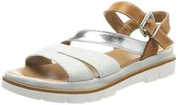 Marc Shoes Damen Ayane Sandale, Leather white-brown, 36 EU von Marc Shoes