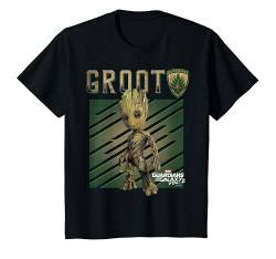 Kinder Marvel Guardians Vol. 2 Baby Groot Shield Kids T-Shirt von Marvel