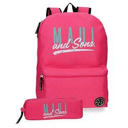 Maui and Sons Hawai Schulrucksack 40 Centimeters 15.6 Pink (Rosa) von Maui & Sons