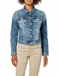 Mavi Damen Charlize Jeansjacke, Blau (Dark Used Sporty 25496), Medium von Mavi