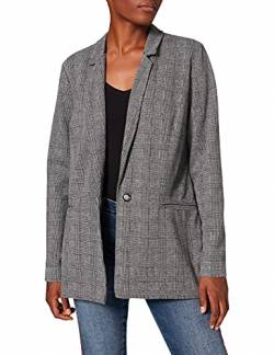 Mavi Damen Knit Jacket Mantel, Schwarz (Black Check 900), Medium von Mavi