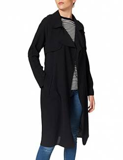 Mavi Damen Trenchcoat Mantel, Schwarz (Black 900), X-Small von Mavi