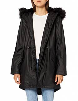 Mavi Damen Hooded Parka, Schwarz (Black 900), Small von Mavi
