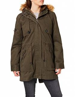 Mavi Damen Hooded Jacket Parka, Grün (Forest Green 27110), Large von Mavi