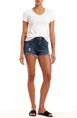 Mavi Damen Rosie Shorts, Dark Ripped 90's STR, 26 von Mavi