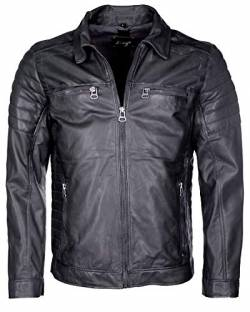 Maze Herren Lederjacke William Grey 3XL von Maze