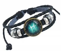 MeiPing Fashion Constellations Hand gewebt Lederarmband von MeiPing