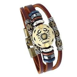 Fashion Constellations Hand gewebt Lederarmband von MeiPing