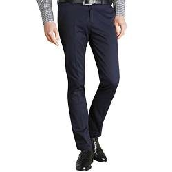 Merc Of London Herren Chino Hose, Blau, W38/L34 von Merc of London