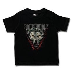 Powerwolf (Icon Wolf): Baby & Kids T-Shirt (116) von Metal-Kids