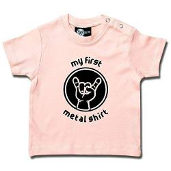 """my first metal shirt"": Baby & Kids T-Shirt (68/74, Hellrosa) von Metal-Kids"