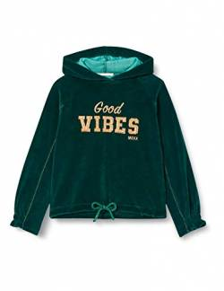 Mexx Girls Velour with Hoodie Hooded Sweatshirt, Ponderosa Pine, 98-104 von Mexx
