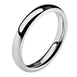 Mianova Band-Ring Edelstahl Herrenring Damenring Partnerring Trauring Verlobungsring Damen Herren Silber Größe 51 (16.2) Breit 4mm von Mianova