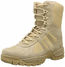 Mil-Tec Security Police Army Combat Leather Boots Generation II Mens Tactical Khaki Size 10 von Mil-Tec