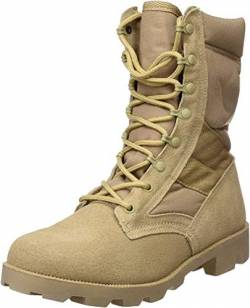 Mil-Tec US Army Desert Combat Jungle Patrol Mens Boots Tan Suede Leather Khaki von Mil-Tec