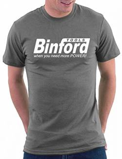 Binford Tools T-shirt, Größe L, Darkgrey von Million Nation