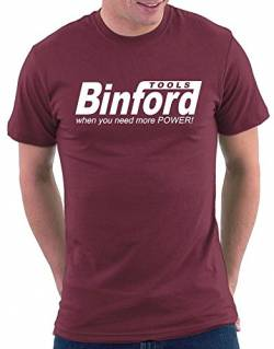 Binford Tools T-shirt, Größe S, Bordeaux von Million Nation