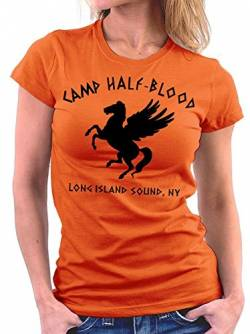 Camp Halfblood woman T-shirt, Größe S, Orange von Million Nation