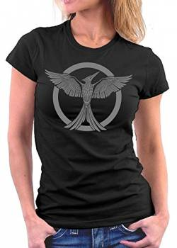Million Nation Hunger Tribute von Panem woman T-shirt, Größe L, Schwarz von Million Nation