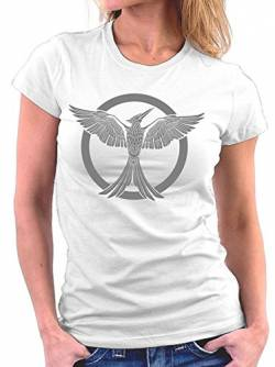 Million Nation Hunger Tribute von Panem woman T-shirt, Größe S, Weiß von Million Nation