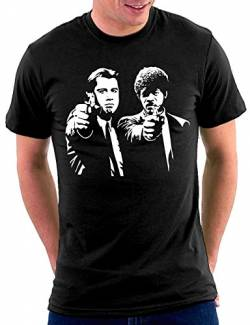 Million Nation Pulp Fiction T-shirt, Schwarz, M von Million Nation