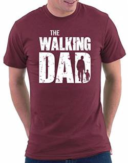 The Walking Dad T-shirt, Größe L, Bordeaux von Million Nation