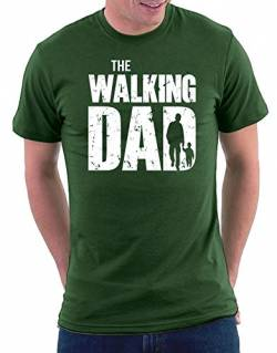 The Walking Dad T-shirt, Größe L, Bottlegreen von Million Nation