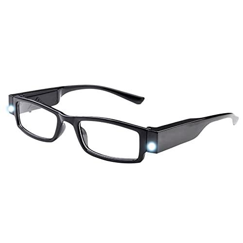 Milya Unisex Lesebrille Presbyopie Brille Sehhilfe Lesehilfe mit Licht Schwarz