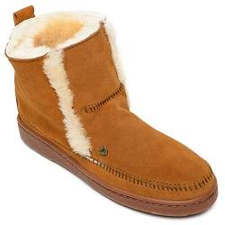 Minnetonka Women's Jade Suede Sheepskin Boots 10 M Brown von Minnetonka