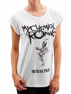 Mister Tee Damen Ladies My Chemical Romace Black Parade Cover T-Shirts, White, M von Mister Tee