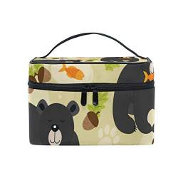 Makeup Bag, Bear Cosmetic Toiletry Storage Organiser Case Large Travel Handle Pouch Best Gift for Teenage Girl Women Lady von Mnsruu